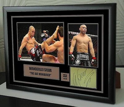 """Wanderlei Silva UFC canvas tribute signed Limited Edition """"Great Gift """""""