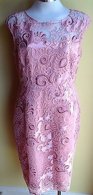 Anthea Crawford Embroidered Dress Size 14 NWT RRP $599.00
