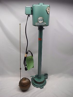 MERCURY JET  1/3 HP Cast Iron Pedestal Sump Pump Vertical Float Switch VINTAGE