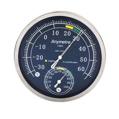 TH603 Stainless Steel Indoor  -30 to 60°C Hygrometer 0% to 100%RH Thermometer T