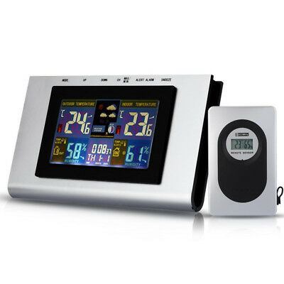 TS-H127G 433MHz Wireless Weather Station Temp Alert Clock Thermometer Hygrometer