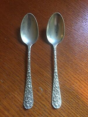 Stieff Rose 1892 Sterling Silver Teaspoons (2 available) .