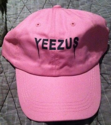47f7c7a2317f9 Yeezus Hat Glastonbury Unstructured strap back Dad Cap Pink 350 750 Yeezy  Kanye