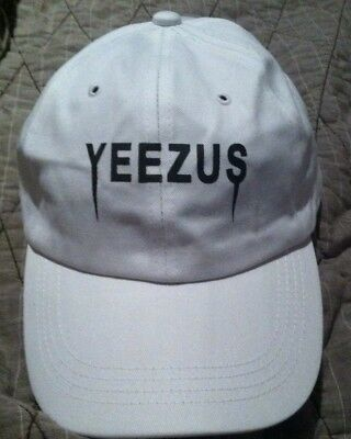 c589ac69d0deb Yeezus Hat Glastonbury Unstructured strap back Dad Cap White 350 750 Yeezy  Kanye