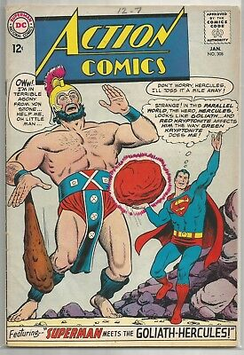 Action Comics #308 DC Silver Age (Superman & Supergirl) Comic Book FN+/VF-
