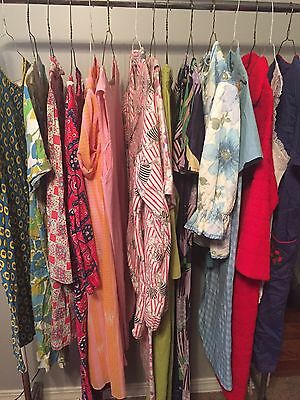 Lot Of 18 Vtg Authentic 60's/70's/80's Pajama Gown Robe Need Repairs #102