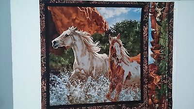 Horse Pillow / Cushion Panel Fabric