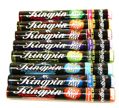 3 x Kingpin Premium Wraps Rolling Paper Cigarette Flavoured Tip Papers Mull Buds