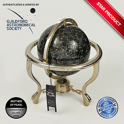 Guildford Astronomical Society Mother Of Pearl Gem Celestrial Nightsky Globe
