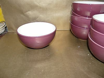 "denby raspberry cereal / soup bowl 6"" diameter"