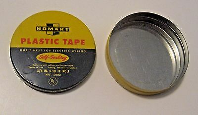 Vintage Construction Homart Electrical Tape Advertising Tin ~ Nice Colors ~