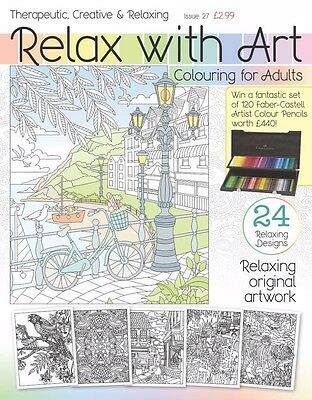 Relax with art colouring book for adults Issue 27