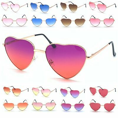 Metal Frame Ladies Heart Shape Sunglasses Lolita Love