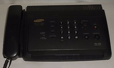 FAX MACHINE SAMSUNG FACSIMILE TRANSCEIVER Model No. FX40