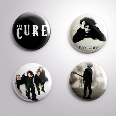 4 THE CURE - Pinbacks Badge Button 25mm 1''