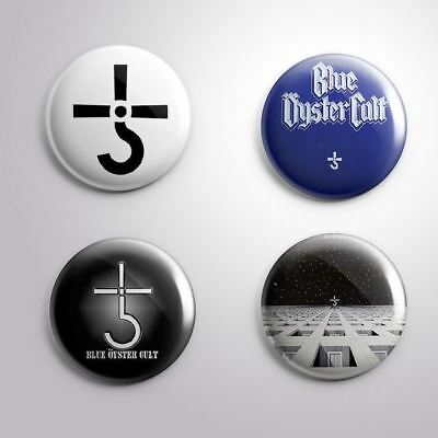 4 BLUE OYSTER CULT - Pinbacks Badge Button 25mm 1''