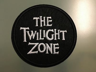 """THE TWILIGHT ZONE Rod Sterling Science-fiction -Embroidered Iron On Patch 3"""""""