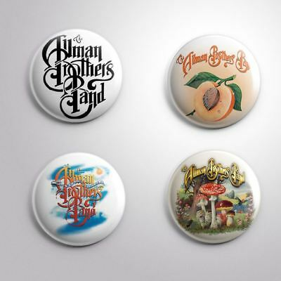 4 ALLMAN BROTHERS BAND - Pinbacks Badge Button 25mm 1''