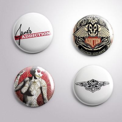 4 JANE'S ADDICTION - Pinbacks Badge Button 25mm 1''