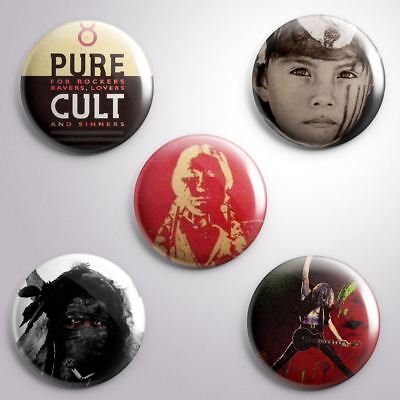 5 THE CULT -  Pinbacks Badge Button 25mm 1''..