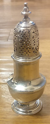 Antique George II Georgian Silver Sugar Caster Sifter Shaker Samuel Wood 1744