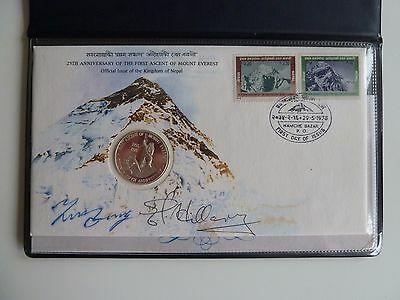 The 25th Anniversary Of The First Ascent Of Mount Everest 2*signiert E. HILLARY