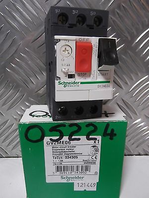 Schneider  GV2ME06 034305  Motor Protection Circuit Breaker 690V 1A->1.6 A