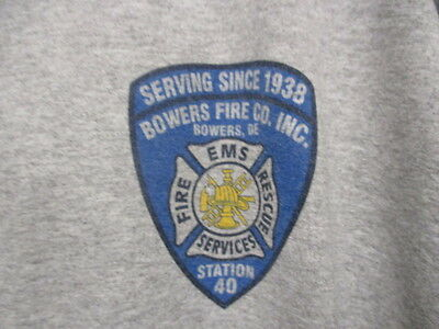 Bowers Fire Company, Inc., Station #40, Since 1938, Ash Gray, S/S, XXXLarge, NEW