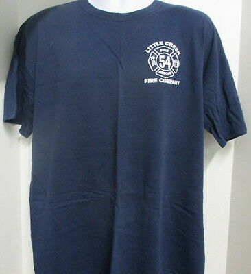 Little Creek Fire Company 54 T-shirt, Navy Blue, Extra Large, Brand New