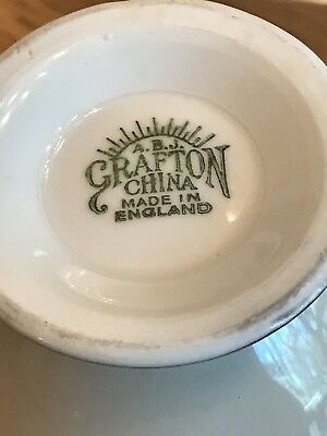 A.B.J. Grafton China Cup and Saucer - Made in England