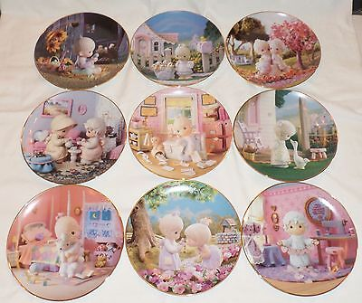 9 Precious Moments Collectors Plates, Sam Butcher, Hamilton Collection Perfect