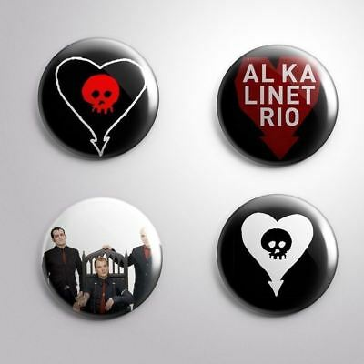 "4 ALKALINE TRIO -  Pinbacks Badges Buttons 1"" 25mm"