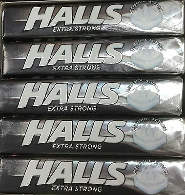 5,10 0r 20 Sticks of Halls Mentho-Lyptus Throat Lozenges - Extra Strong