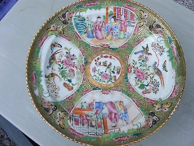Antique  Chinese Canton Famille Rose Comport Tazza