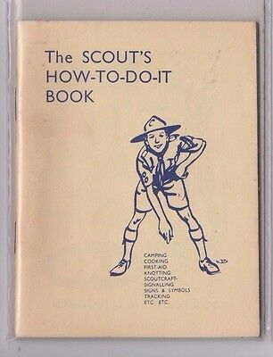 1x Vintage 1945 The Boy Scout's How-to-do-it Book