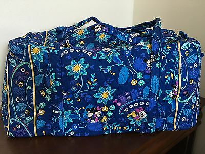 NEW Vera Bradley Large Duffel Mickey and Minnie Mouse Disney Dreaming