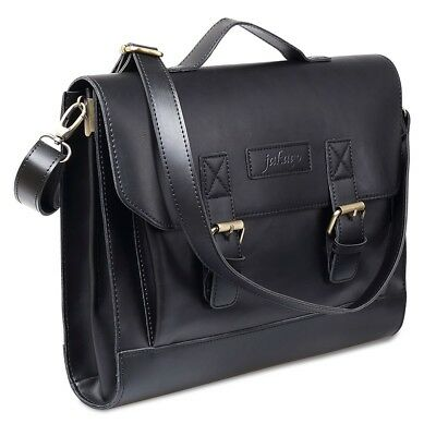 women bags leather Briefcase Vintage Laptop Messenger black Bag for office work
