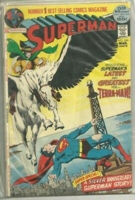 Superman #249 DC 1972 Bronze Age Comic FN+ to VF- (1st Terra-Man App.)