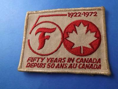 Firestone Tires 50 Years In Canada 1922 1972 Patch Vintage Race Car Racing