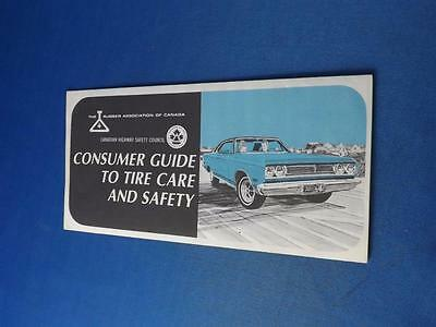 Rubber Association Of Canada Brochure Consumer Guide To Tire Care & Safety