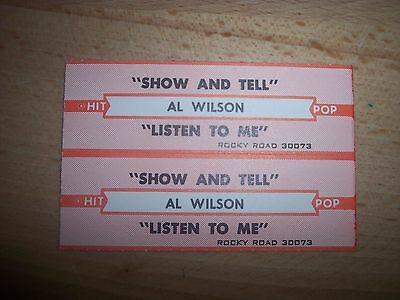 """2 Al Wilson Show And Tell Jukebox Title Strips CD 7"""" 45RPM Records"""