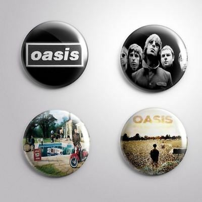 4 OASIS - Pinbacks Badge Button 25mm 1''