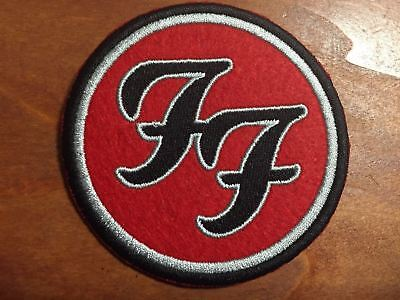 FOO FIGHTERS Logo Patch - Embroidered Iron On Patch 3 ""