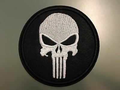 "PUNISHER SKULL Patch - Embroidered Iron On Patch 3 "" USA"
