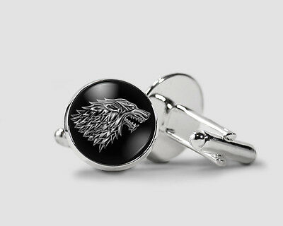 Game Of Thrones House Stark, Silver Plated Cufflinks, Cool Gifts for men
