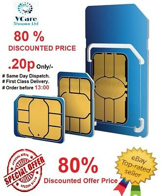 Official O2  Pay As You Go 02 Trio Sim Card Sealed Unlimited Calls And Texts