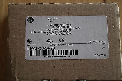 Allen Bradley 140M-C-ASA20 Auxiliary Contact  NEW in Box