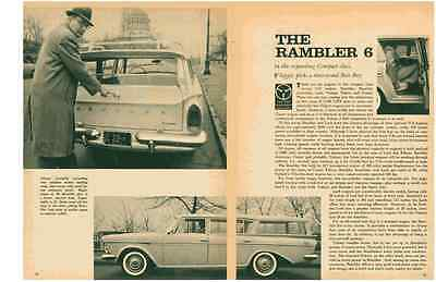 1960 Rambler 6 Station Wagon  196/127Hp  ~  Nice Original 2-Page Article