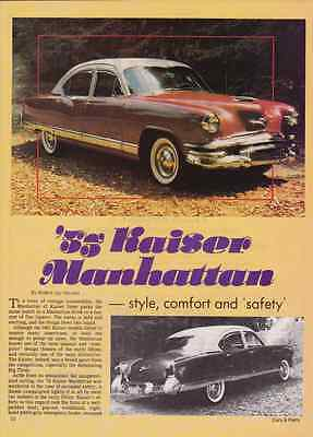 1953 Kaiser Manhattan  ~  Nice 2-Page Article / Ad