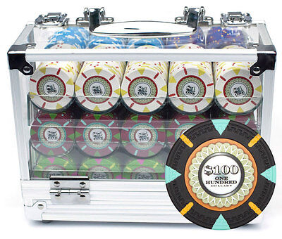 New 600 The Mint 13.5g Clay Poker Chips Set with Acrylic Case - Pick Chips!